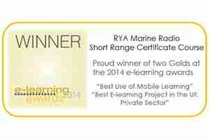 RYA onlinecourses have received e-learning awards